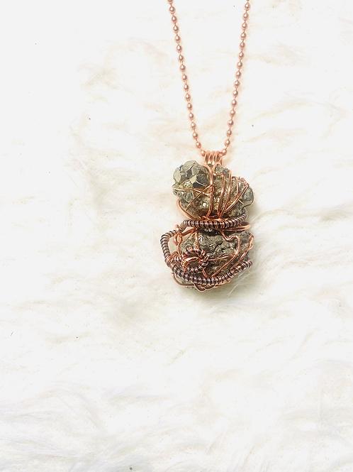 Large Pyrite Duo Pendant