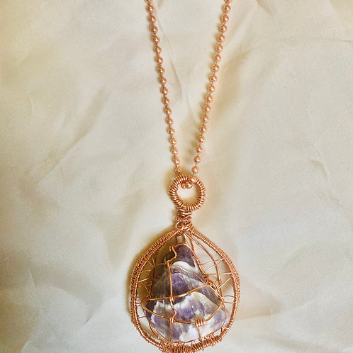 Large Amethyst Cage Theme w/ Copper