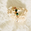 Thumbnail: Hair Jewelry| Malachite w/ Cowrie Shell