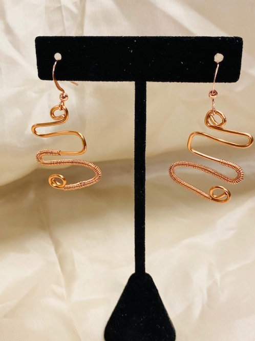 Copper Freestyle Earrings