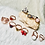 Thumbnail: RINGS: Rose Quartz with Multi Colored Copper Size 7