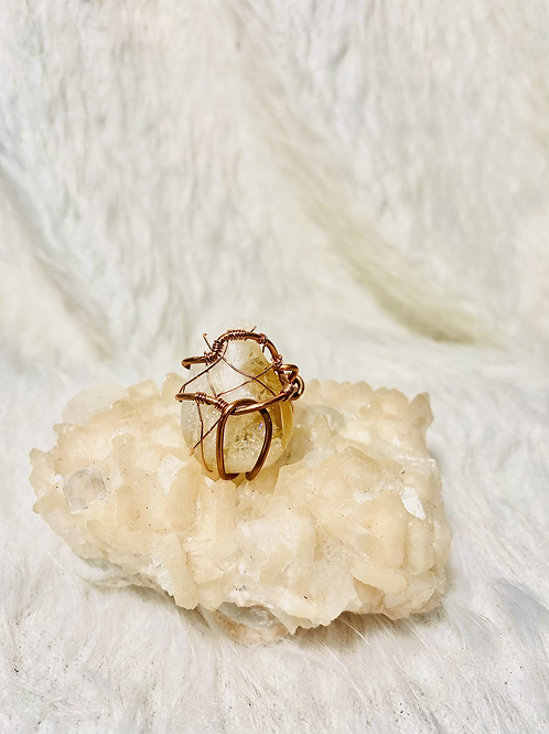 RINGS: Citrine w/ Copper Rings Size 6 & Size 10