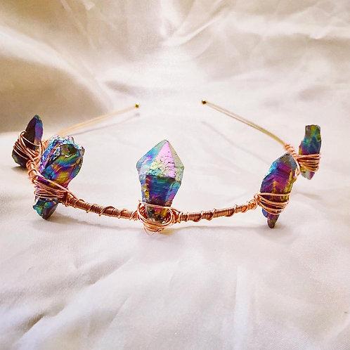 Rainbow Hematite Mermaid Crown