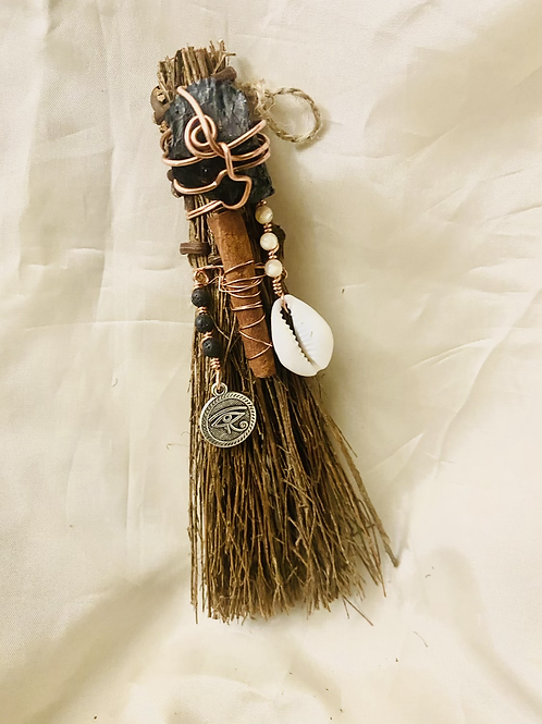 Cinnamon Broom|Magical Root Chakra| Charged with Crystals & Copper