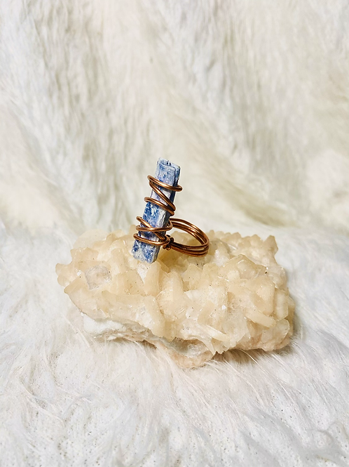 RINGS: Blue Kyanite w/ Copper Sz 8 & Sz 9
