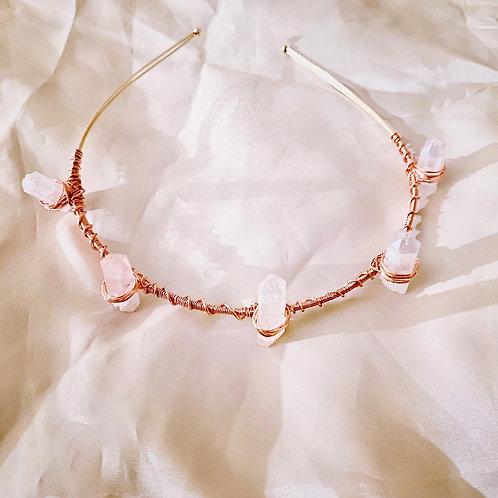 Rose Quartz Mermaid Crown