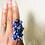 Thumbnail: Lapis Lazuli w/Evil Eye Large Ring Sz 7