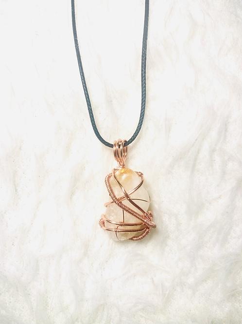 Citrine & Copper Pendant