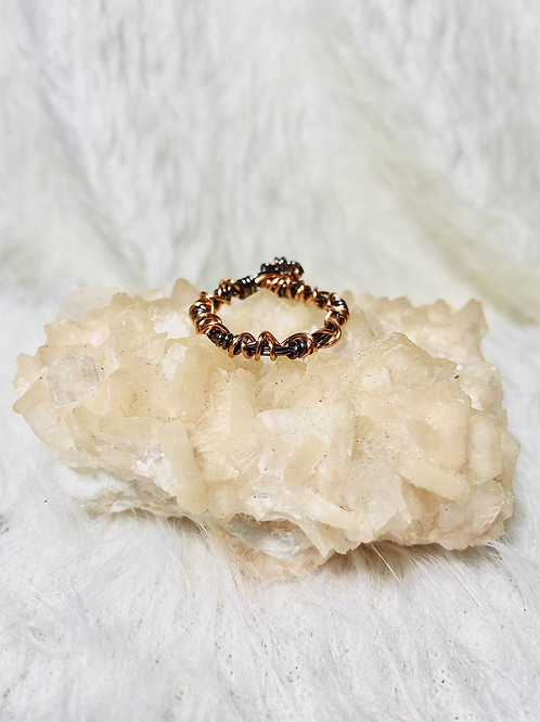 RINGS:Multi Colored Copper Ring Size 10