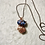 Thumbnail: Sodalite and Blue Calcite Duo Copper Pendant