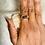 Thumbnail: RINGS: Rainbow Hematite w/  Copper Sz 8