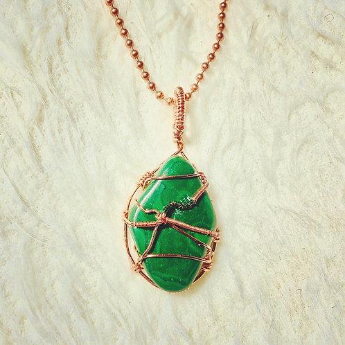 Malachite w/Copper Pendant