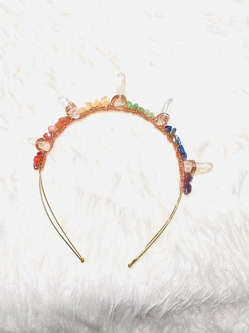 7 Chakra  Crown|Clear Quartz Points