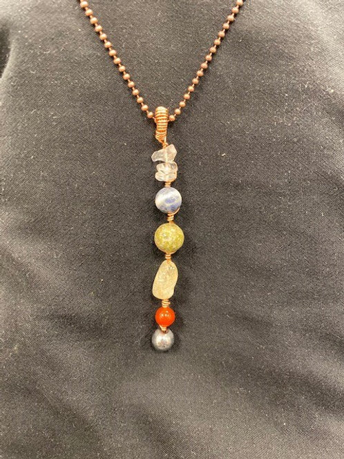 Chakras Aligned 2 Handmade Pendant