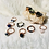 Thumbnail: RINGS:Multi Colored Black & Silver Copper Ring Size 8