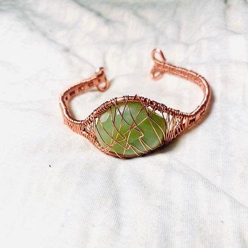 Aventurine Copper Bracelet (7-7.5 in)