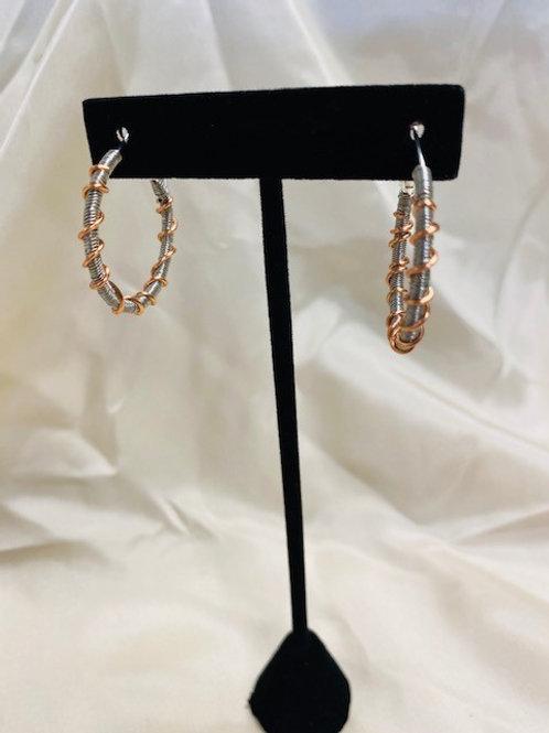 Small Silver Copper Hoop Earrings
