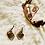 Thumbnail: Tiger Eyes & Wooden Beads Crown Set(Empress Line)