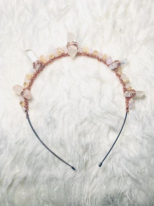 Rose Quartz & Citrine Tiara Crown (Empress Line)