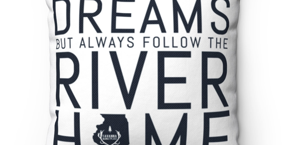 Illinois River Dreams Spun Polyester Square Pillow Case