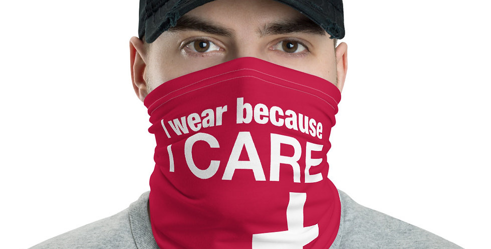 I Care on the Front Lines Neck Gaiter