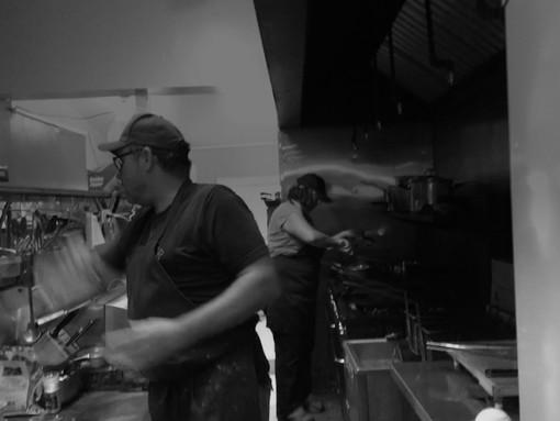 Our urban farmhouse kitchen