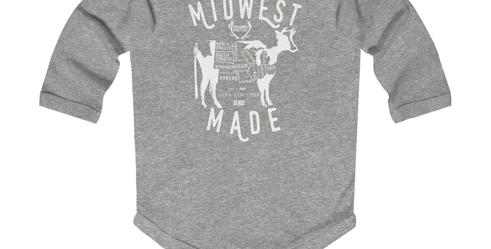 Midwest Made Infant Long Sleeve Bodysuit