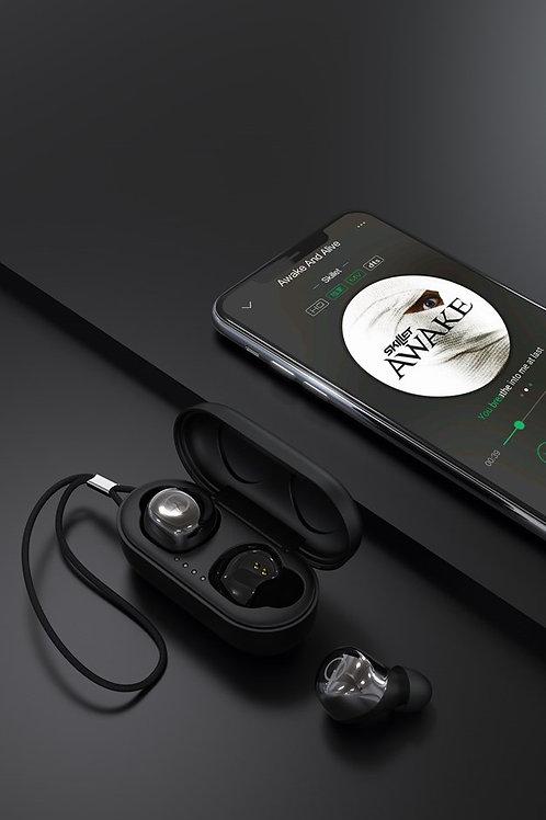 Devia - True Metal Wireless Waterproof Bluetooth Earbuds & Powerbank