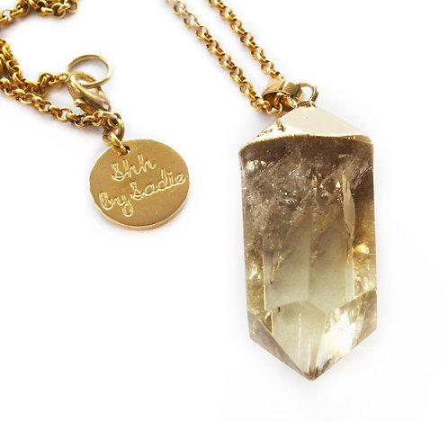 Glow Necklace - Lemon Crystal Quartz