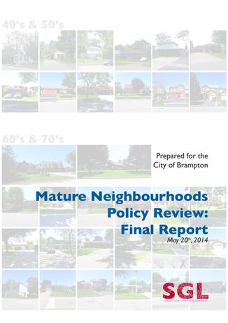 Brampton Mature Neighbourhoods Study