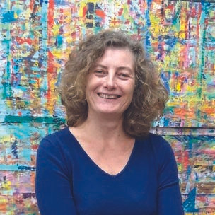 Dominique Marcere, praticienne et facilitatrice de l'acte de peindre, de dessiner