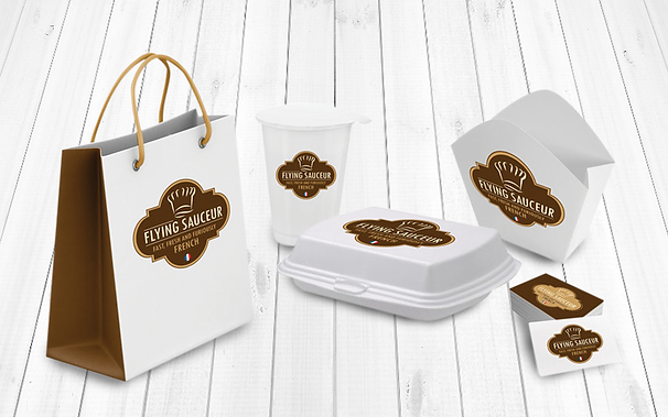 FLYING SAUCEUR logo et packaging