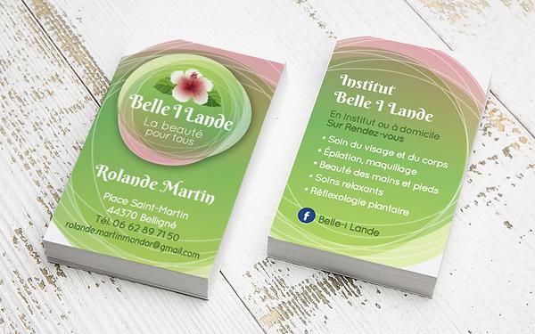 BELLE I LANDE logo et carte de visite