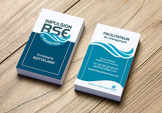 IMPULSION RSE logo et carte de visite
