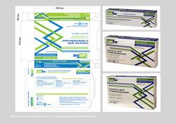 Дизайн и верстка упаковок пакетов для стерилизации для компании Ника Дент