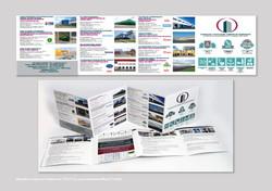 Дизайн и верстка Лифлета 15х15 см для компании Мега-Строй