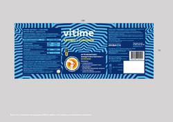 Верстка этикетки продукции «Vitime arthro curcumin»