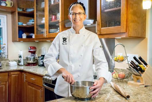 Chef Kel baking