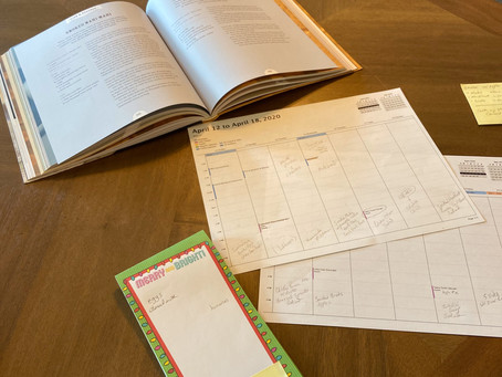 A few words about meal planning...