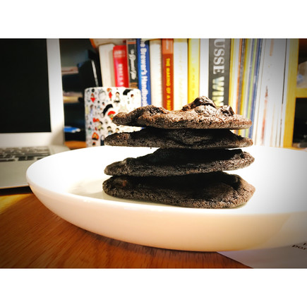 Dark Chocolate Cherry Cookies