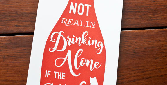 Cats & Wine Poster