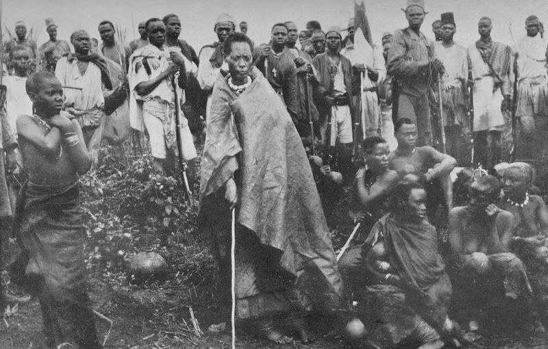 Queen Muhumza (Centre)