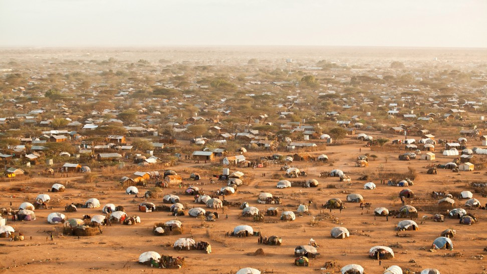 Dadaab refugee camp in Northern Kenya