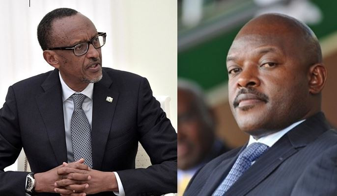 Present-day Rwanda leader President Paul Kagame and his Burundi Counterpart Pierre Nkurunziza.