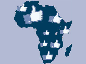 Map of Africa with Facebook likes