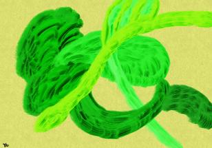 No.1065 緑の世界_The Green World