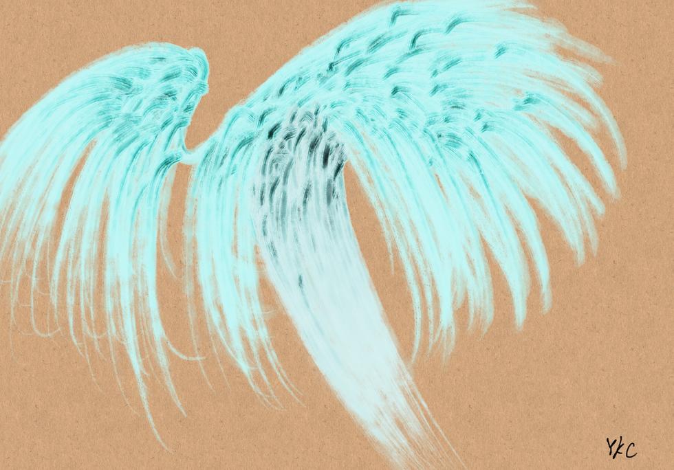 No.212 黄昏時の白い精霊_A White Spirit at Dusk