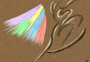 No.1558 虹鳥と宿木_A Rainbow Bird & a Host Plant