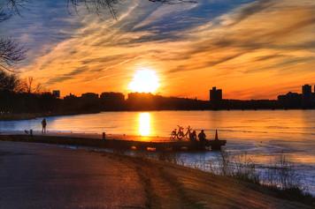 3190.【ボストン旅行記】チャールズ川を架ける橋の上で