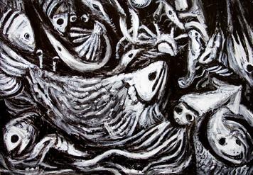 2386. 黒体の不気味な魚を釣り上げる夢